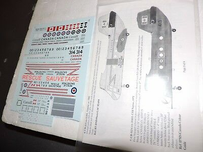 BELCHER BITS1/72nd DECAL SHEET FOR CANADIAN CH-113 LABRADOR SEE NOTES # BD11A