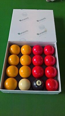 "Aramith 2"" Red & Yellow Pool Balls Great Condition"
