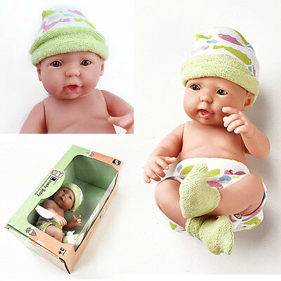 26Cm Real Life Baby Doll Kids Girls Toy Cot Accessories Xmas Gift New