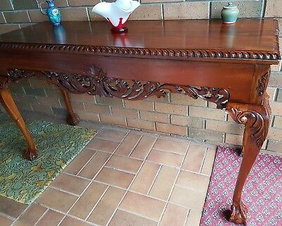 Antique Vintage Chippendale Hall Table Occasional Table Northcote or Trentham