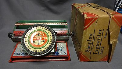 Simplex Portable Typewriter Special Demonstrated Model R With Original Box