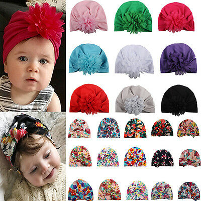 Fashion Printing Bohemia Style Bowknot Sleeve Cap Soft Floral Hat for Baby Girls
