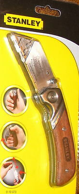 Stanley Folding Pocket Utility Knife with Wooden Handle No Blade