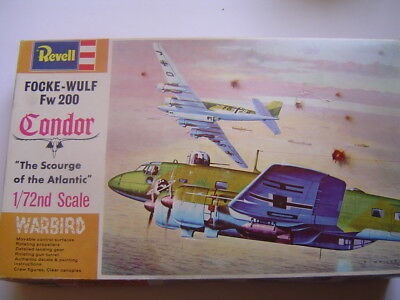 New Old Stock Revell Focke-Wulf Fw 200 Condor Model Aircraft Kit 1:72 Scale