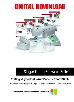 Singer Futura Software - AutoPunch, Editing, Hyperfont & Photostitch DOWNLOAD