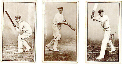 "3 Rare Cards From Barratt's ""australian Cricketers"" Series  In Good Condition"
