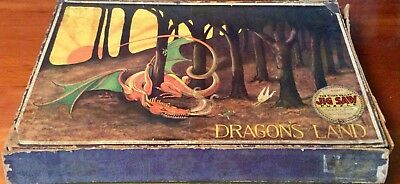Vintage Chad Valley Dragon's Land jigsaw puzzle, 1930s