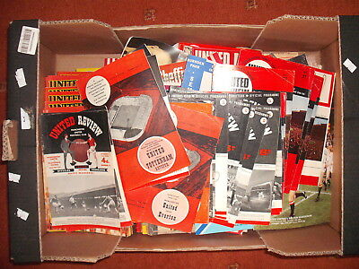 MANCHESTER UNITED, APPROX 445 HOME AND AWAY PROGRAMMES. EARLY 60'S to EARLY 90's