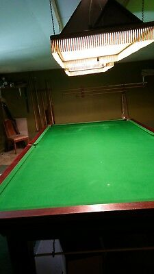 Full Size Slate Bed Snooker Table With Lights