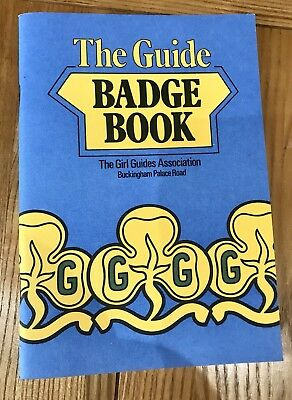 The Guide Badge Book 1983 Girl Guides Vintage