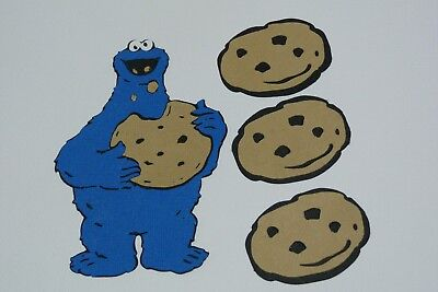 Cookie Monster With Extra Cookies Fully Assembled Die Cut
