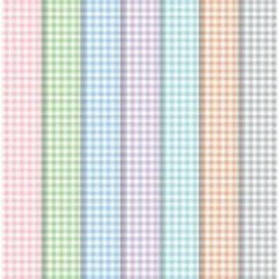 "20 Sheets 4"" x 12"" PALE GINGHAM Pastel Background Patterned 120gsm Craft Paper"
