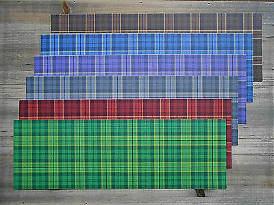 "20 Sheets 4"" x 12"" Assorted Scottish TARTAN 120gsm Patterned Craft Paper Strips"