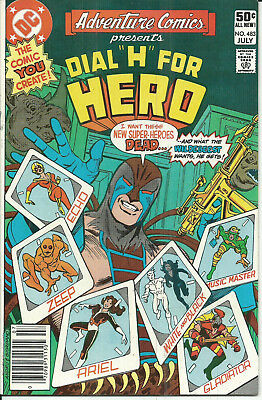 """DC Copper Age: Adventure Comics #483 (Don Heck) Dial """"H"""" for Hero (Infantino)"""