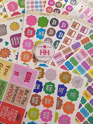 Weight Loss Stickers - Planner/Diary/Scrapbooking Stickers - Glossy Paper