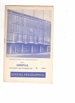 Leeds United v Arsenal 1964 - 1965