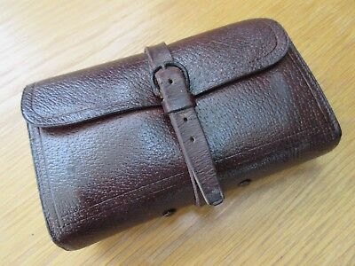 Fine Vintage Leather Fly Wallet And Salmon Flies