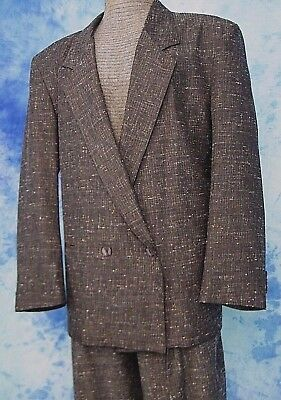 ReTrO 80s ViNTAGE MiAMi ViCE GRAY SHEEN FLECK HiPSTER SUiT JACKET PANTS 42/34