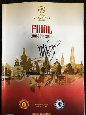 Louis Saha Signed Manchester United 2008 Champions League Final Programme