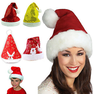 Classic Cute Plush Santa Cap Christmas Santa Hat Party Headgear Accessory Gift