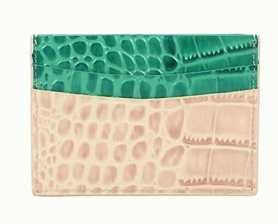 Python Id credit business card holder crocodile purse pouch wallet men women