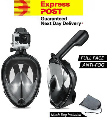 Full Face Diving Snorkel GoPro Snorkeling Mask Swimming Goggles for GoPro