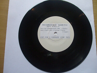 """Scorched Earth RARE Test Press """"Tomorrow Never Comes/ """"So Long"""" CAR 342  A1 / B1"""