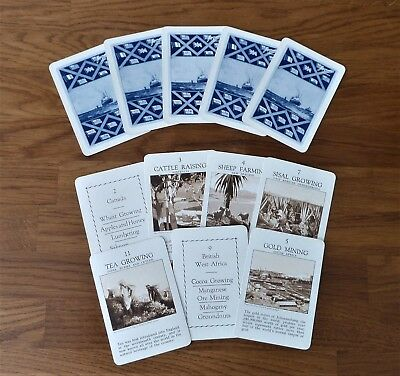 Vintage Jaques Countries of Empire card game, complete, box and Rules c1935