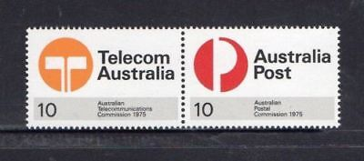 Australia 1975-New Postal And Telecommunication Commission Pair Mnh