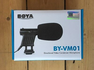 New BOYA Directional Condenser Microphone BY-VM01 for DSLR Camera Camcorder.