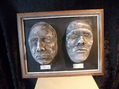 Burke & Hare  Framed Death Masks  Life Size Replicas