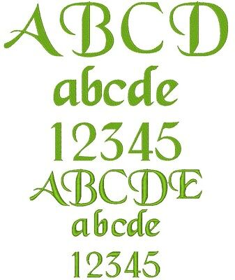 Machine Embroidery Font Design : TENACE SCRIPT, Fast & Free Emailing Worldwide