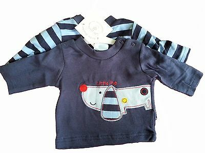 Job Lot Of 7 Packs Of Baby Boys Long Sleeved Tops 1 With Dog Design 1 Striped