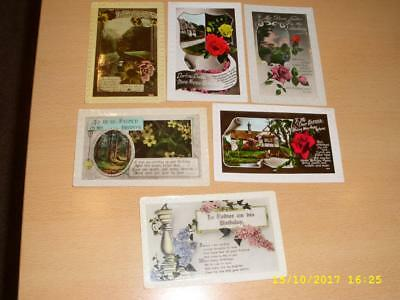 Collection Of Vintage Greeting Postcards - Relationships - Father