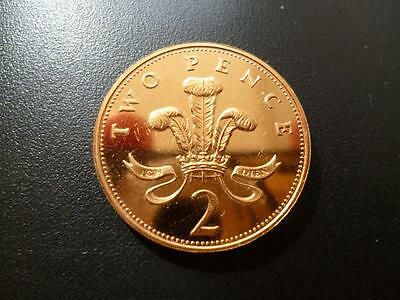 1988 Brilliant Uncirculated 2P Coin 1988 Uncirculated Two Pence Piece.