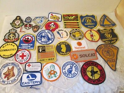 Vintage to Recent Large Lot Assorted Clothes Emblem Patches