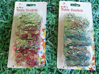 Job Lot Of 12 Packs Of Party Table Confetti Blue And Cerise Pink
