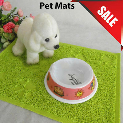 Neon Green Square PVC Placemat Dog Puppy Pet Feeding CatBowl Food Mat Wipe Clean