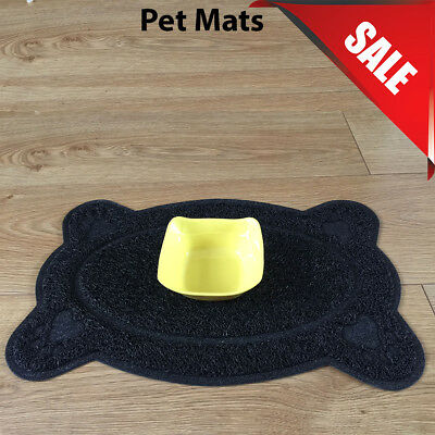 Black Bone Style PVC Placemat Dog Puppy Pet Feeding Cat Bowl Food Mat Wipe Clean