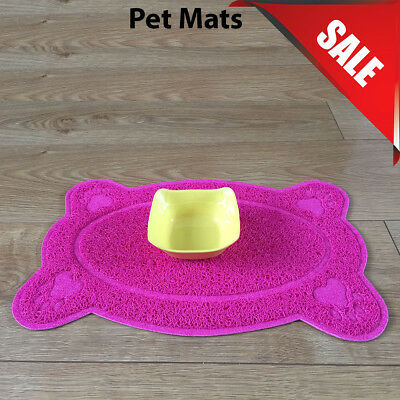 Pink Bone Style PVC Placemat Dog Puppy Pet Feeding Cat Bowl Food Mat Wipe Clean