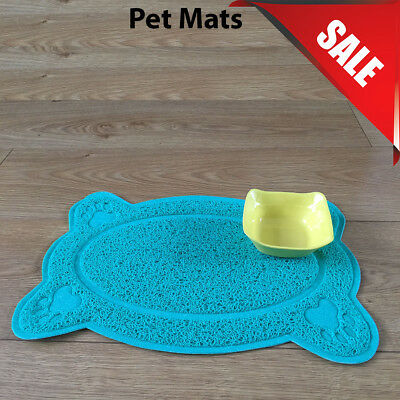 Blue Bone Style PVC Placemat Dog Puppy Pet Feeding Cat Bowl Food Mat Wipe Clean