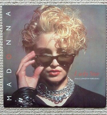 "MADONNA. Lucky Star 12"" Picture Sleeve. UK Issue. Great Condition"
