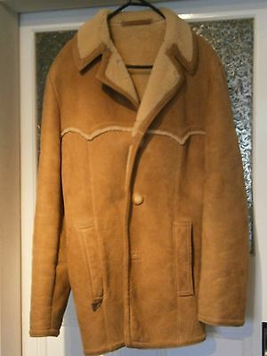 Vintage Sawyer of Napa Mens Sheep Wool Coat