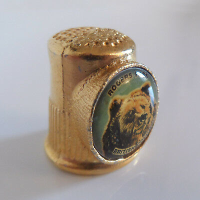 Rogers Pass British Columbia Grizzly Bear Thimble