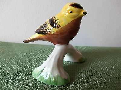 Yellow Porcelian Bird Figurine by A DUE TOSIN of ITALY-Item# 2495/1