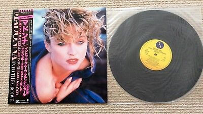 "MADONNA. Material Girl, Angel Japanese 12"" Picture Sleeve With Obi"