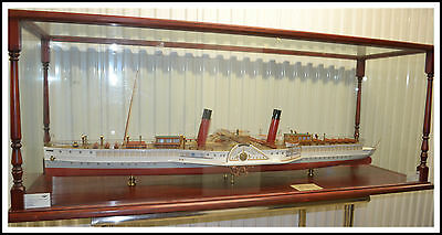 "HUGE Ship Model ""Glen Sannox"" 1890's Sidewheeler"