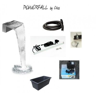 PowerFall Waterfall Kit Eco 60cm 90 litre water basin incl. LED Strip White
