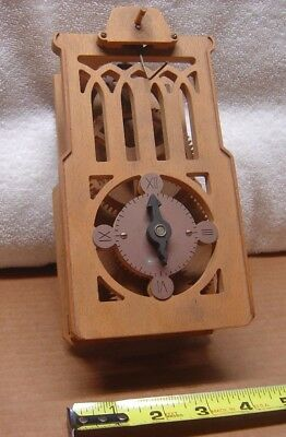 Very Unusual Vintage Wooden Gear Wall Clock, Needs More Parts, Not Working