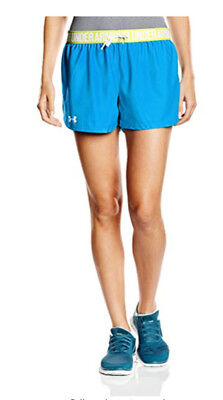 Under Armour Womens Play Up Short (Dynamo Blue/High-vis yellow)